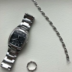 Michael Kors Bracelet & Ring Free: Bulova Watch
